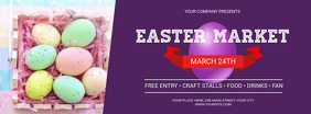Purple Easter Market Facebook Cover Photo template