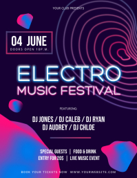 Purple Electro Music Festival Flyer