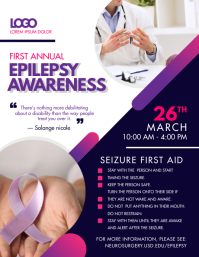 Purple Epilepsy Awareness Event Poster Flyer (US Letter) template
