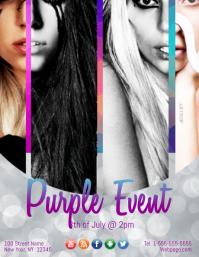 Purple Event Template