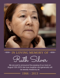 Purple Farewell celebration of life flyer