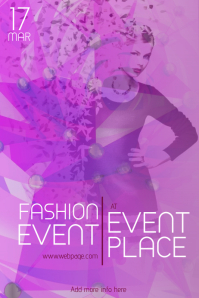 purple fashion event flyer template