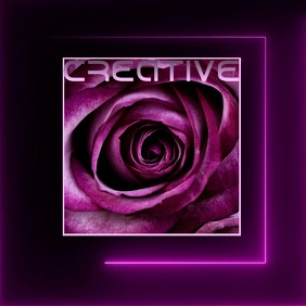 purple flower rose icon logo digital template