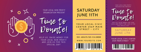 Purple Fundraising Event Ticket Facebook Cover template