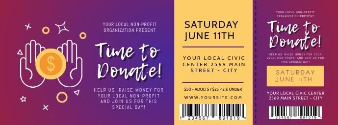 Purple Fundraising Event Ticket Facebook Cover