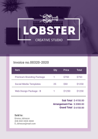 Purple Geometric Invoice