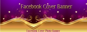 Purple Gold Facebook Cover Ikhava Yesithombe se-Facebook template