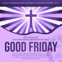 Purple Good Friday Square Video 方形(1:1) template