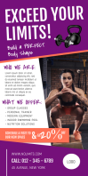 Purple Gym Ad Roll up Banner