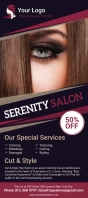 Purple hair salon rack card template