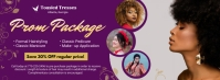 Purple Hair Salon Special Offer Banner Facebook Cover Photo template