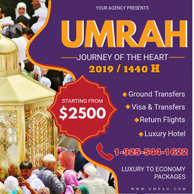 Purple Hajj and Umrah Travel Package Online Ad