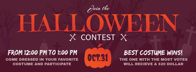 Purple Halloween Contest Facebook Cover Photo