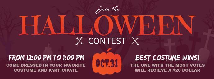 Purple Halloween Contest Facebook Cover Photo
