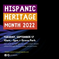 Purple Hispanic Heritage Month Video Ad