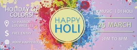 Purple Holi Banner