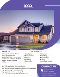 Purple Home Refurbishing and Repair Flyer