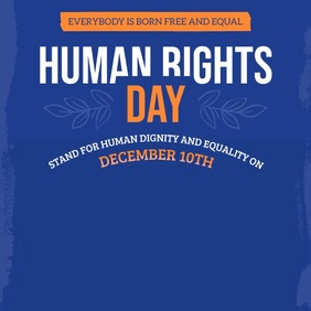 Purple Human Rights Square Video template