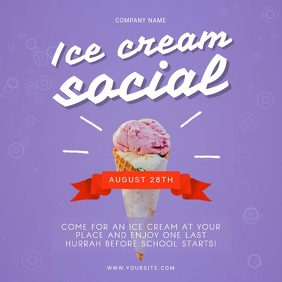 Purple Ice Cream Social Instagram Video template
