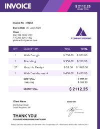 Purple Invoice Sample