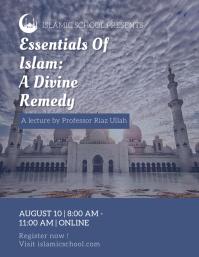 Purple Islamic Sermon Flyer