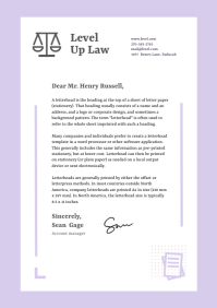 Purple Letterhead Template