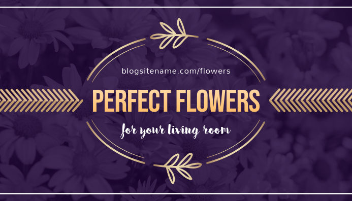 Purple Lifestyle Themed Blog Header template