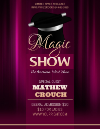 Purple Magic Show Fyer Template Flyer (US Letter)