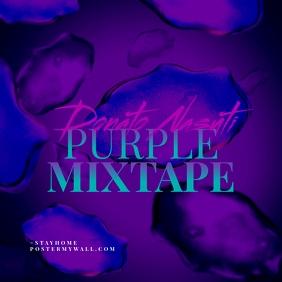 Purple Mixtape CD Cover Art Template