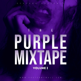 Purple Mixtape CD Cover template