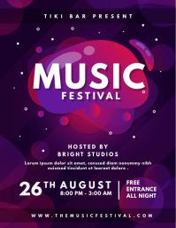 Purple Modern Music Concert Poster