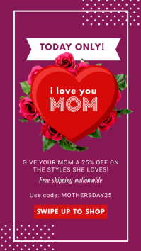 Purple Mother's Day Sale Instagram Story