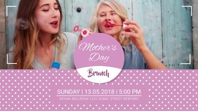 Purple Mother's Day Brunch Video Template