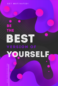 Purple Motivational Quote Illustration Tumblr template