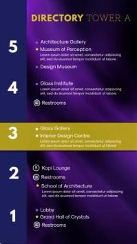 Purple Museum Directory Digital Signage