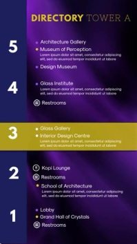 Purple Museum Directory Digital Signage
