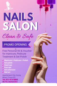 Purple Nail Salon Advertisement Flyer