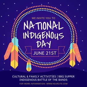 Purple National Indigenous Day Invitation Ins