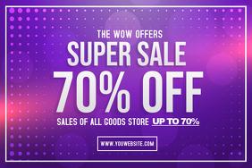 Purple Neon Sale Poster