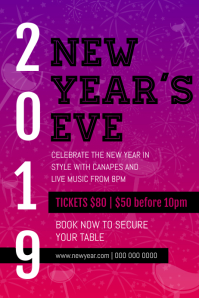 Purple New Year's Eve Poster