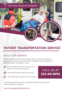Purple Non-emergency Medical Transit Flyer