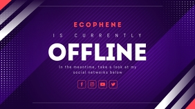Purple Offline Twitch Banner template