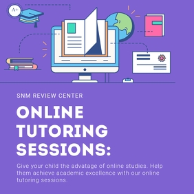 Purple Online Tuition class Advert