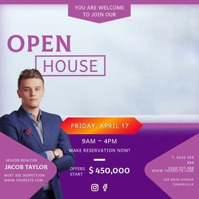 Purple Open House Online Advert