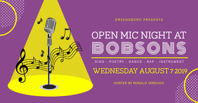 Purple Open Mic Banner Event Cover template