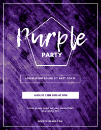 Purple Party Flyer template