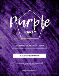Purple Party Flyer template Рекламная листовка (US Letter)