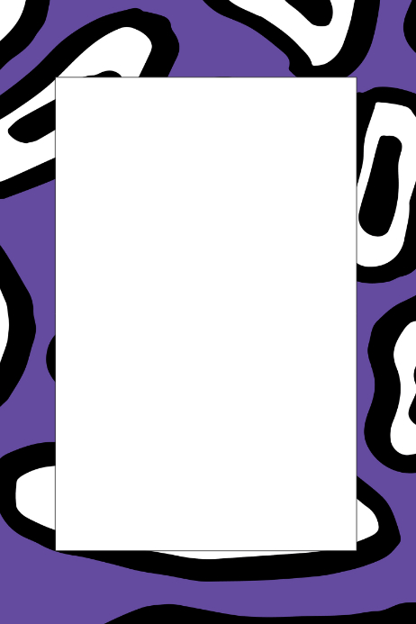 Purple Party Prop Frame