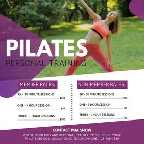 Purple Pilates Class Ad Square Video