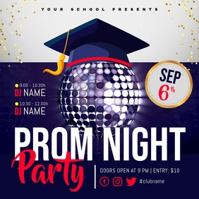 Purple Prom Night Party Square Video